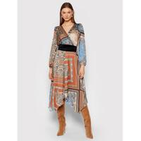 Rinascimento Sukienka codzienna CFC0104962003 Brązowy Regular Fit