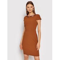 Rinascimento Sukienka koktajlowa CFC0105031003 Brązowy Regular Fit