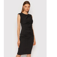 Rinascimento Sukienka koktajlowa CFC0104349003 Czarny Slim Fit