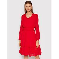 Rinascimento Sukienka koktajlowa CFC0104675003 Czerwony Regular Fit