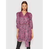 Rinascimento Sukienka koktajlowa CFC0104669003 Różowy Slim Fit