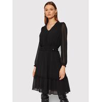 Rinascimento Sukienka koktajlowa CFC0104675003 Czarny Regular Fit