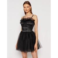 Rinascimento Sukienka koktajlowa CFC0104891003 Czarny Slim Fit