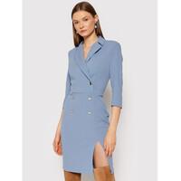 Rinascimento Sukienka koktajlowa CFC0105023003 Niebieski Slim Fit
