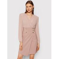 Rinascimento Sukienka koktajlowa CFC0105049003 Różowy Regular Fit