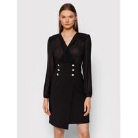 Rinascimento Sukienka koktajlowa CFC0105049003 Czarny Slim Fit