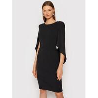 Rinascimento Sukienka koktajlowa CFC0105059003 Czarny Regular Fit