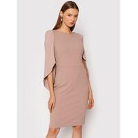Rinascimento Sukienka koktajlowa CFC0105059003 Różowy Regular Fit