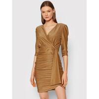 Rinascimento Sukienka koktajlowa CFC0105082003 Złoty Slim Fit