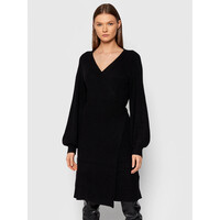 Vero Moda Curve Sukienka dzianinowa Briahermosa 10252753 Czarny Regular Fit