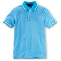 Tchibo Koszulka polo o splocie piqué, niebieska 400069172