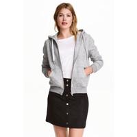 H&M Bluza z kapturem 0237347006 Szary melanż