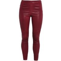 Tigha NORI Spodnie skórzane berry TG021A003-I11