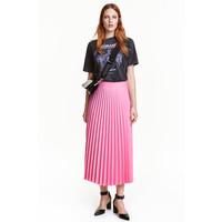 H&M Plisowana spódnica 0444750002 Różowy