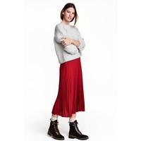 H&M Plisowana spódnica 0419141003 Ciemnoczerwony
