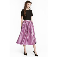 H&M Plisowana spódnica 0518891001 Różowy