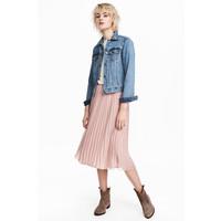 H&M Plisowana spódnica 0493398002 Szaroróżowy