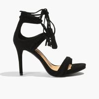 Badura Czarne zamszowe sandały 3107-69-015-193