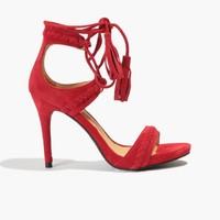 Badura Czerwone zamszowe sandały 3107-69-916-193