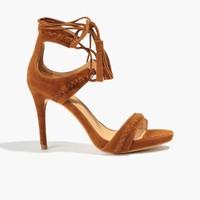 Badura Brązowe zamszowe sandały 3107-69-1138-193