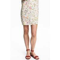 H&M Zamszowe sandały 0498528001 Rdzawoczerwony