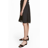 H&M Zamszowe sandały 0498528001 Czarny