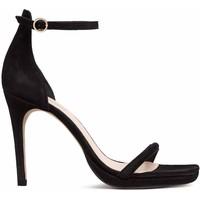H&M Zamszowe sandały 0501965001 Czarny