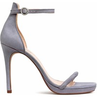 H&M Zamszowe sandały 0501965001 Szarofioletowy