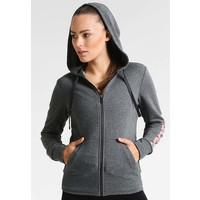 adidas Performance ESS LIN Bluza rozpinana gark grey heather AD541G04D