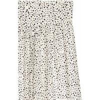 H&M Długa spódnica we wzory 0537163001 Naturalna bielGrochy