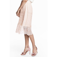 H&M Zamszowe sandały 0513938001 Pudroworóżowy