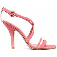 H&M Zamszowe sandały 0512430001 Koralowy