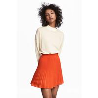H&M Plisowana spódnica 0536162005 Pomarańczowy