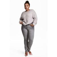 H&M H&M+ Elastyczne spodnie 0352811006 Szary denim