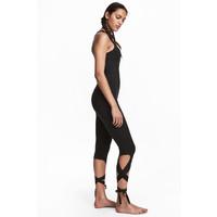 H&M Kombinezon do jogi z wiązaniem 0534014001 Czarny