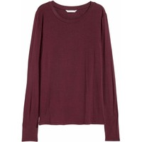 H&M Dżersejowy top 0523645004 Burgundowy