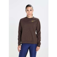 Nike Performance ENRGY OPEN Bluza dark obsidianheatherbaroque brownmineral yellow