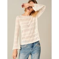 Mohito Ażurowy sweter z rozszerzanym rękawem TP184-01X
