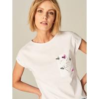 Mohito Koszulka ze zdobioną kieszonką UB578-00X