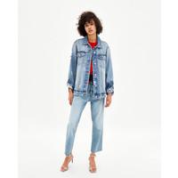 Topshop LEON TIE DYE SHACKET Kurtka jeansowa multi TP721G0KM