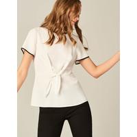 Mohito Elegancka bluzka z finezyjnym wiązaniem UE578-00X