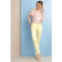 Monnari Pastelowe spodnie na co dzień SPOIMP0-18L-TRU0730-K002D000-R36