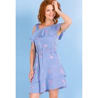 Monnari Prążkowana sukienka na lato SUKPOL0-18L-DRE3670-KM13D800-R36