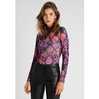 Jaded London EXCLUSIVE SNAKE PRINT HIGH NECK BODY Bluzka z długim rękawem purple JL021D00U
