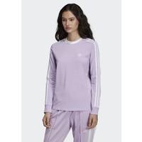 adidas Originals 3-STRIPES TEE Bluzka z długim rękawem purple AD121D0N6