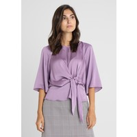 Vince Camuto BELL SLEEVE TIE FRONT BLOUSE Bluzka silver violet VC221E02D
