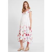 True Violet Maternity TRUE HI LOW MIDAXI DRESS WITH FRILLS Długa sukienka ombre cream TRD29F00B