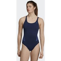 adidas Performance PRO V 3-STRIPES SWIMSUIT Kostium kąpielowy blue AD581G02P
