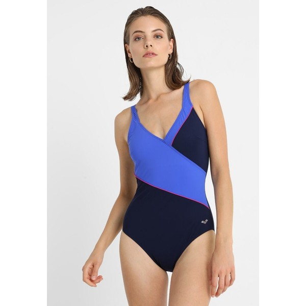 Arena TOPAZ SQUARED BACK ONE PIECE Kostium kąpielowy navy/bright blue/rose violet A1581E001