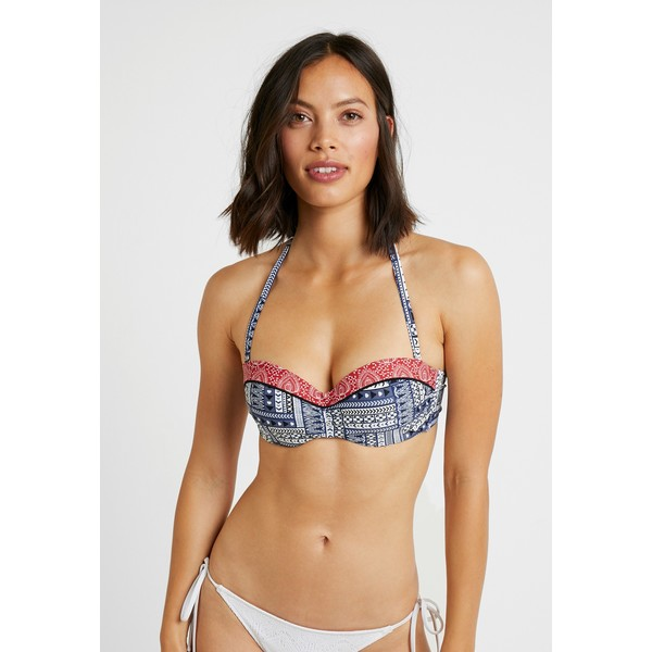 s.Oliver WIRE BANDEAU Góra od bikini blue/red SO281J00T